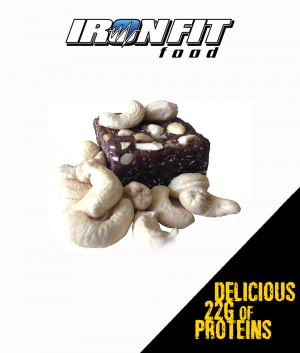 Cashew Banana-Choco Protein Brownie เม็ดมะม่วงหิมพานต์ บานาน่า ช้อคชิพ โปรตีน บราวนี่